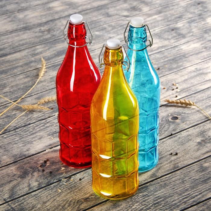Бутылка для масла «Галерея» 1,2 л, 8,5х32 см, цвета МИКС - фото 231477113