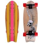 Скейтборд ОТ-911, размер 67х24,5 см, колеса PU d=6 см, ABEC 9, алюмин.рама, микс