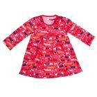 Платье для девочки, рост 98 см, цвет розовый, принт собаки 711252-8_М