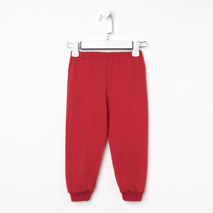 Брюки для мальчика, цвет красный, рост 104 см - фото 1942259