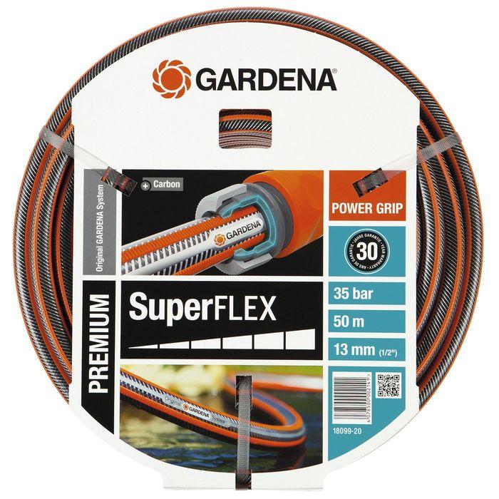 """Шланг, d = 12 мм (1/2""""), L = 50 м, 3-слойный, армированный, GARDENA SuperFLEX"""