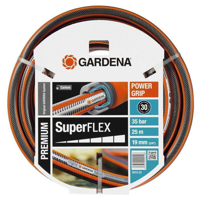"""Шланг, d = 19 мм (3/4""""), L = 25 м, 3-слойный, армированный, GARDENA SuperFLEX"""