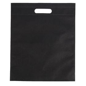 Пакет с вырубной ручкой, 29 х 35 см, черный Ош