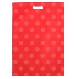 Пакет с вырубной ручкой 'Горох' 35 х 50 см, красный Ош