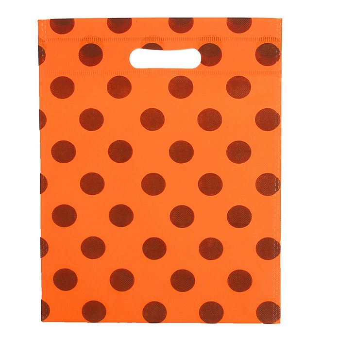 """Пакет с вырубной ручкой """"Горох"""" 35 х 50 см, оранжевый"""