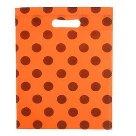 Пакет с вырубной ручкой 'Горох' 30 х 40 см, оранжевый Ош