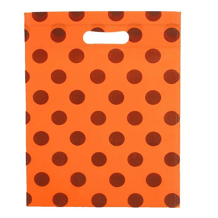 """Пакет с вырубной ручкой """"Горох"""" 30 х 40 см, оранжевый"""