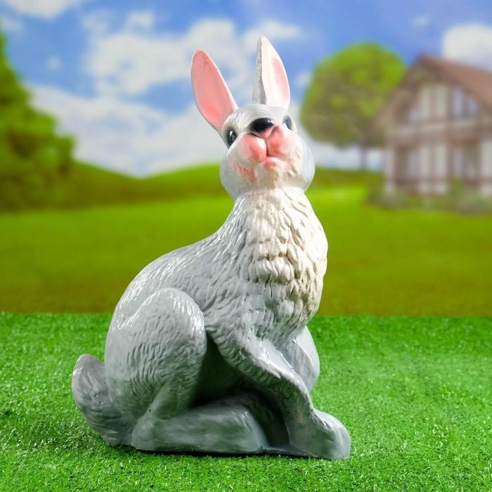 "Садовая фигура ""Кролик"" 10х25х37см - фото 226619"