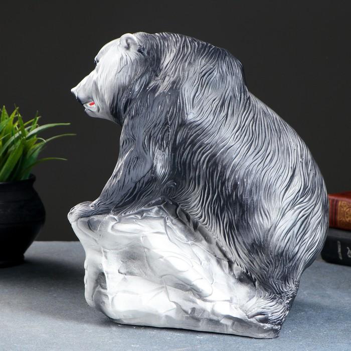 """Копилка """"Медведь — хозяин тайги"""" чёрная"""