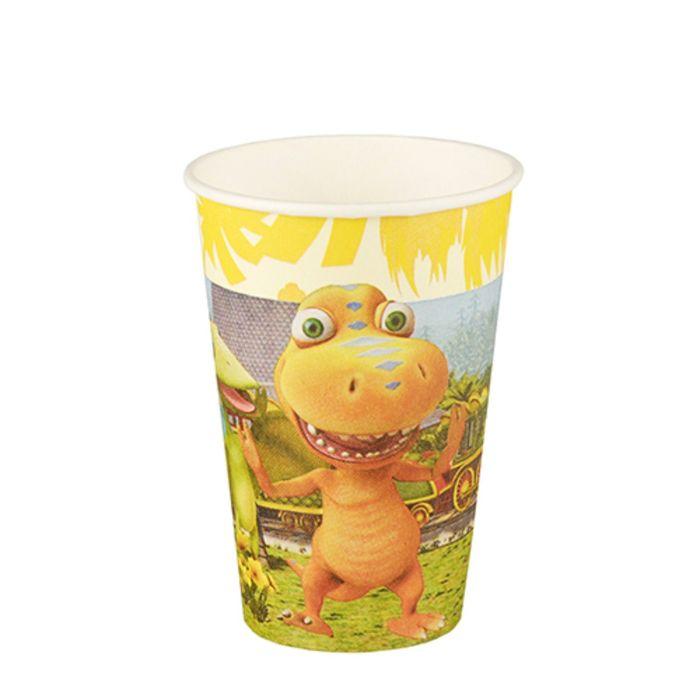 """Стакан """"Динозавры"""", бумага, 200 мл, 10 шт"""