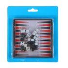 """Игра настольная """"Нарды"""", магнитная, поле 11 × 11 см, коробка с крышкой"""