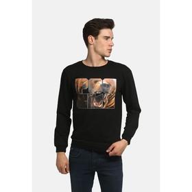 Толстовка мужская KAFTAN 'Россия', размер XL(50), черный, хлопок 100% Ош