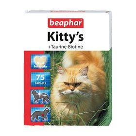 "Витамины Beaphar ""Kitty's"" для кошек, таурин+биотин, 75 шт"