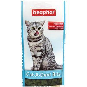 """Подушечки Beaphar  """"Cat-A-Dent Bits"""" для чистки зубов 35гр, для кошек"""