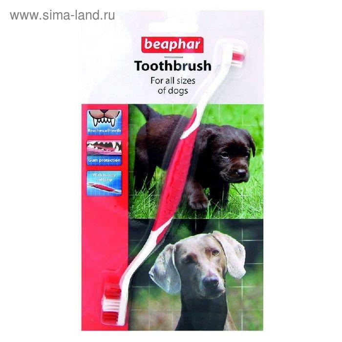 Зубная щетка Beaphar двойная для собак на блистере