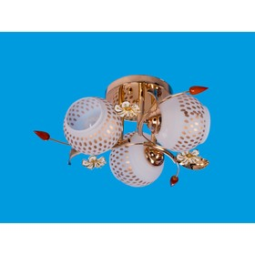 Люстра 'Цветение' 3 лампы 40W E27 золото 45х45х17 см Ош