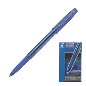 Ручка шариковая Pilot Super Grip G, узел 1.0мм, резиновый упор, стержень синий, BPS-GG-M (L)