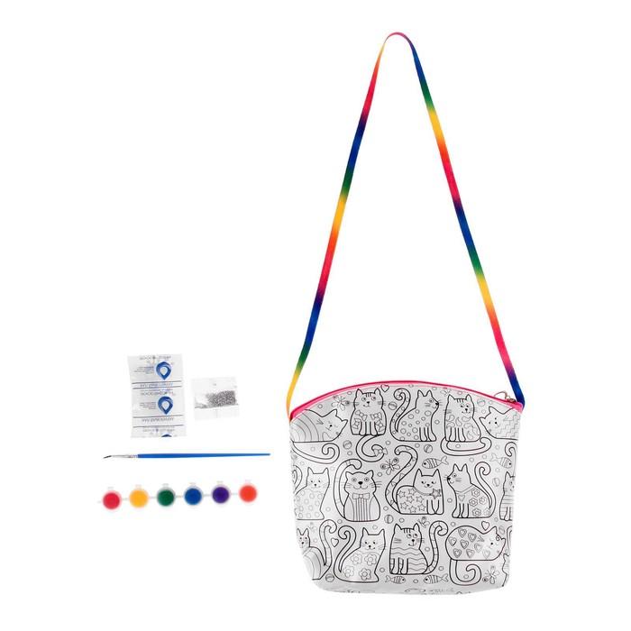 набор для творчества My Color Bag котёнок сумка раскраска мини 22 22 см ремень 40 см