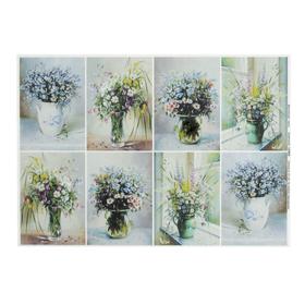 "Decoupage card ""Field bouquet"" a density of 45 g/m2, A4"