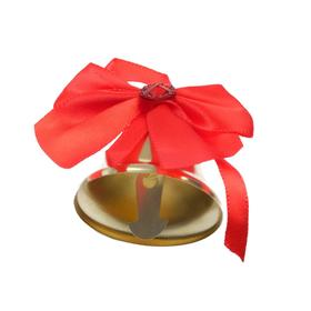 The exhaust bell with a red bow with strati