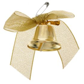 The bell outlet with gold bow