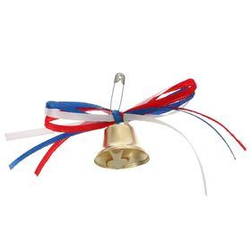 The bell outlet with ribbons of the tricolor
