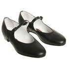 Туфли народные женские, длина по стельке 18,5 см, цвет чёрный - фото 1700044