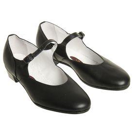 Туфли народные женские, длина по стельке 18,5 см, цвет чёрный