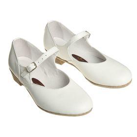 Туфли народные женские, длина по стельке 18,5 см, цвет белый