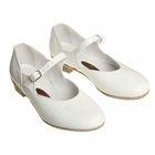 Туфли народные женские, длина по стельке 19,5 см, цвет белый