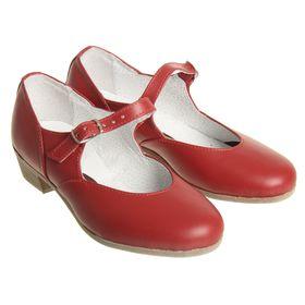 Туфли народные женские, длина по стельке 18,5 см, цвет красный