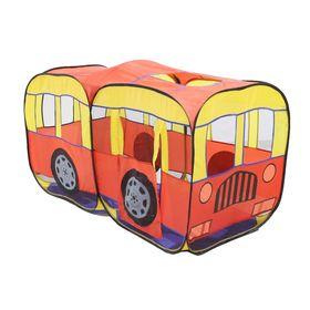 Игровая палатка «Автобус», цвет желто-красный