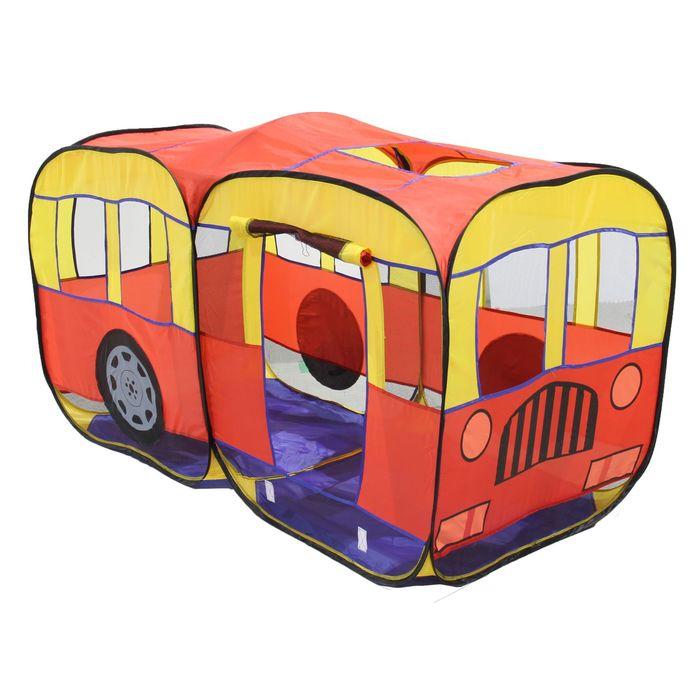 """Игровая палатка """"Автобус"""", цвет желто-красный"""