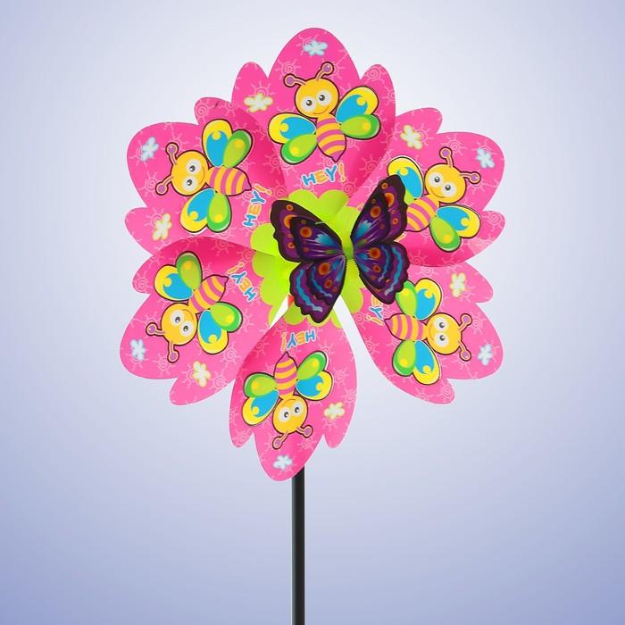 Ветерок «Пчёлки», с бабочкой, цвета МИКС