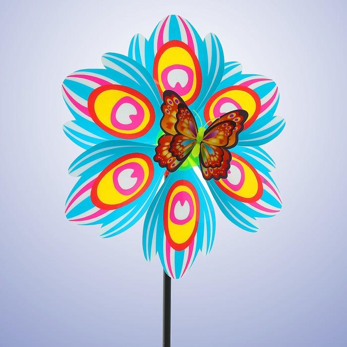 Ветерок «Цветок», с бабочкой, виды МИКС