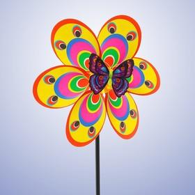 Ветерок «Цветочек», с бабочкой, виды МИКС