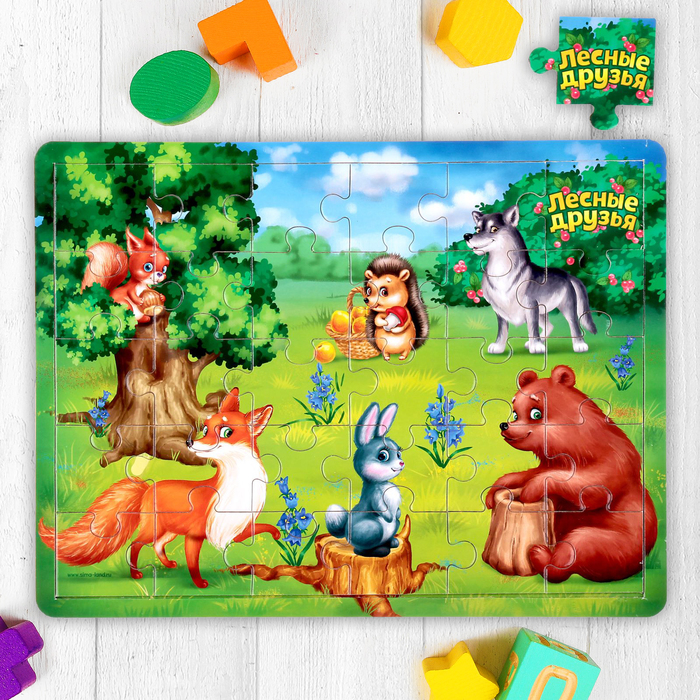 Пазл большой «Лесные друзья», 30 элементов - фото 105597758