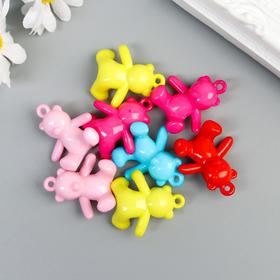"""A set of buttons decorative plastic """"Bear"""" (set 8 PCs), 2,5x2, 5 cm"""