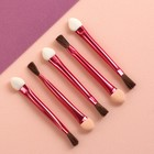 A set of applicators for shadows, double-sided, with a narrow brush, 5pcs 6.5 cm, MIX color