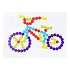 """Аппликация """"Велосипед"""" + круглые клеевые стразы без граней 6 цветов"""