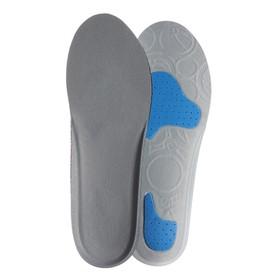 Стельки для обуви, универсальные, амортизирующие, 35-40 р-р, пара, цвет серый