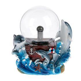 """Плазменный шар полистоун """"Дельфиний клад"""" 18х20х12,5 см"""