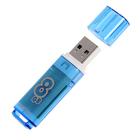 Флешка USB Smartbuy 8GB Glossy series Blue, синяя