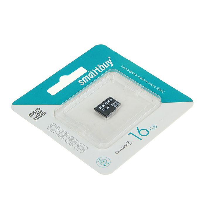 Карта памяти microSDHC Smartbuy  16GB class 4