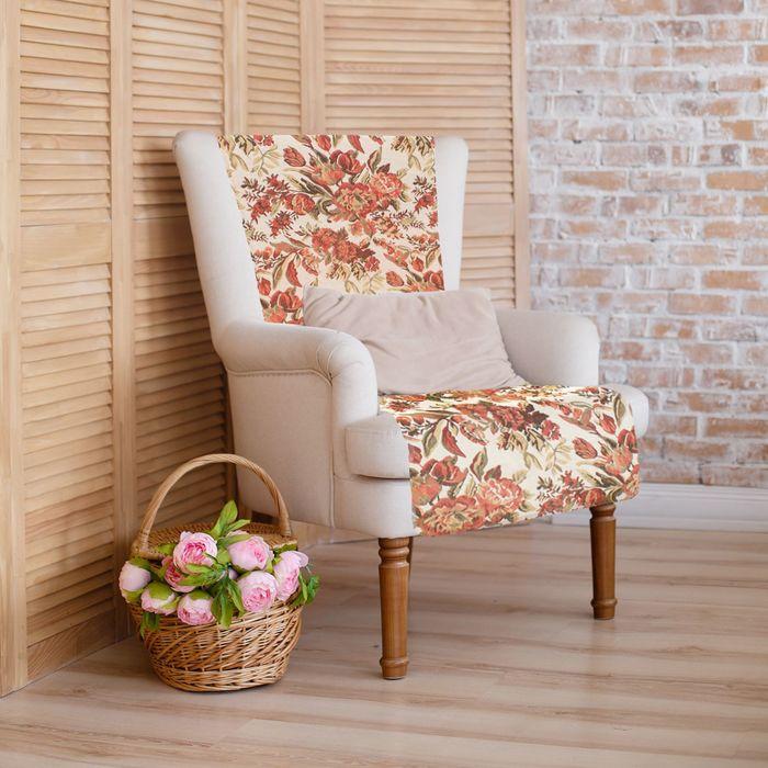 """Накидка на кресло """"Этель"""" Флора, размер 75х160 см"""