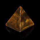 Пирамида из камня. Чёрный петерсит от 28х19мм/20г: коробка