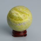 Шар из камня. Оливковый жадеит от 48мм/200г: подставка, коробка