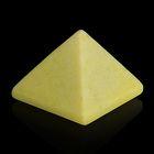 Пирамида из камня. Оливковый жадеит от 28х19мм/20г: коробка