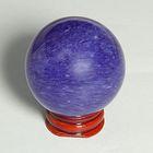 Шар из камня. Голубой кварц от 48мм/200г: подставка, коробка