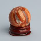 Шар из камня. Яшма Зебра от 29мм/55г: подставка, коробка